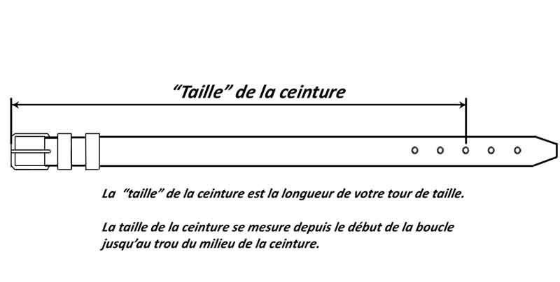 f8717fd0dde Ceinture Femme droite en Croûte de Vachette Noir  boucle métallique ...